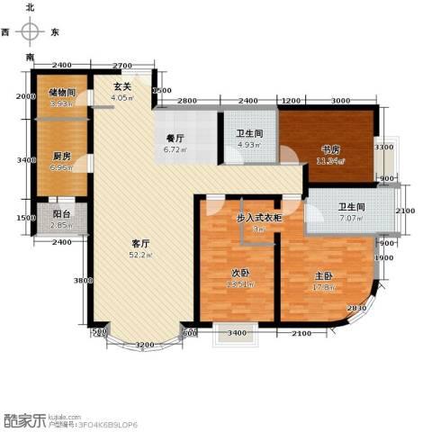 公园18723室2厅2卫0厨175.00㎡户型图
