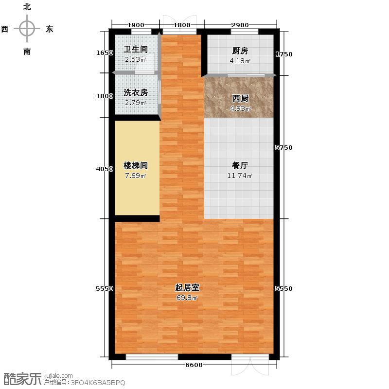 首创玲珑墅222.00㎡Mb1层户型10室