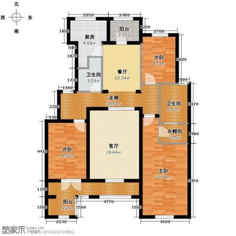 德嘉与海3室2厅2卫0厨160.00㎡户型图