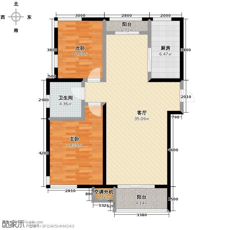 贻成豪庭109.00㎡C`1户型10室