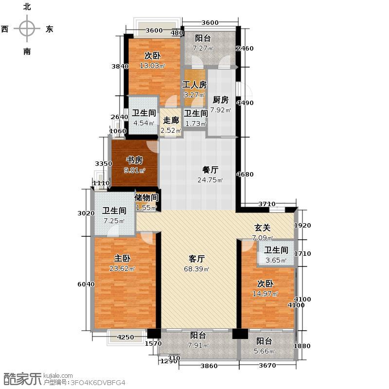 天汇广场242.90㎡A4-A5栋02户型3室2厅3卫