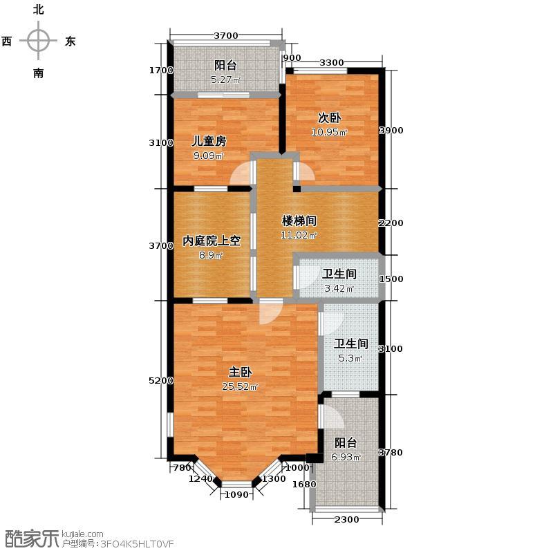 红墅湾222.05㎡B户型5室2厅3卫