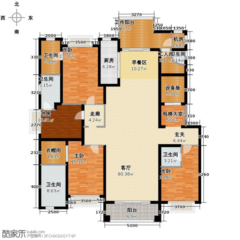 浦东星河湾227.38㎡户型10室