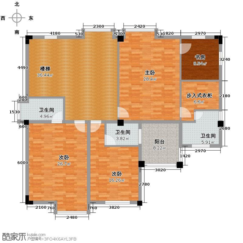 同景国际城郡望353.00㎡C室内赠送户型4室3厅5卫