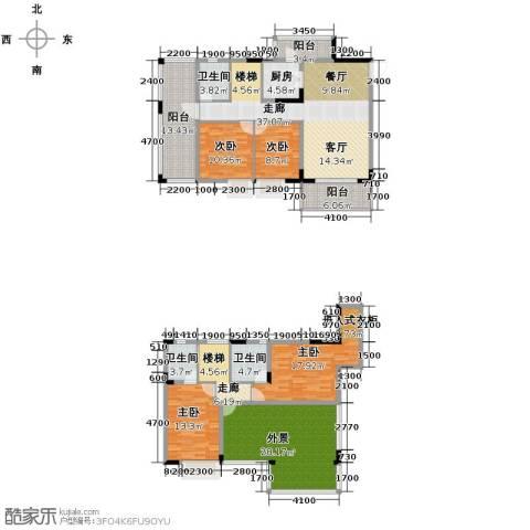 金田花园花域4室2厅3卫0厨161.41㎡户型图