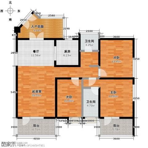 四季风情3室2厅2卫0厨137.00㎡户型图