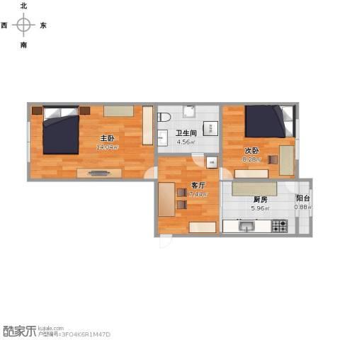 安国街103号小区2室1厅1卫1厨56.00㎡户型图