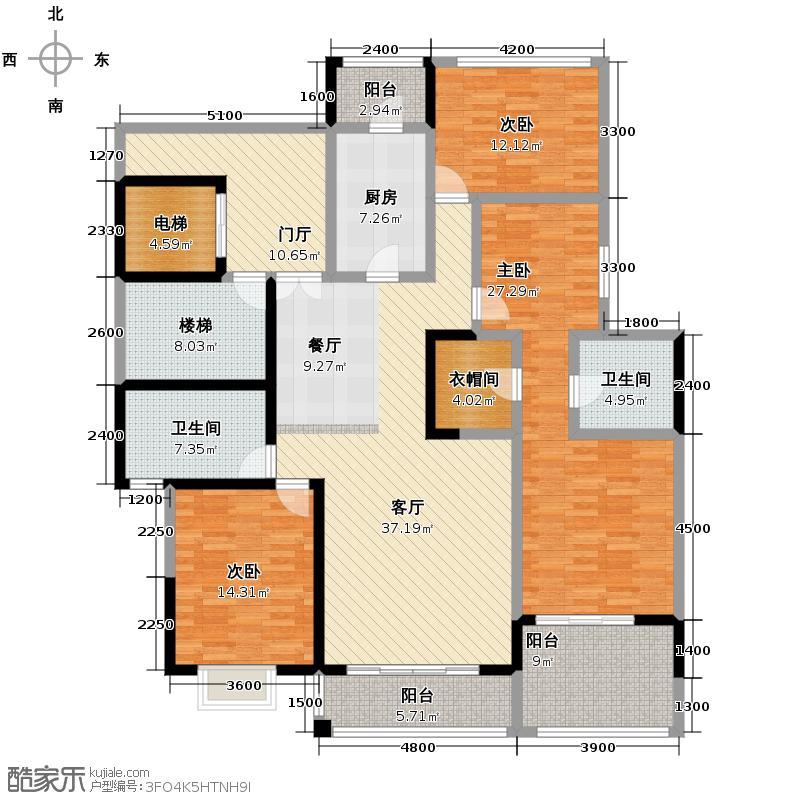 锦绣世纪138.98㎡一期7号栋-户型10室