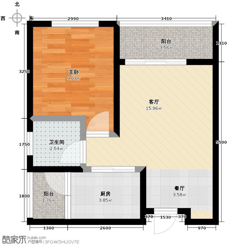 金源利青国青城42.99㎡户型10室