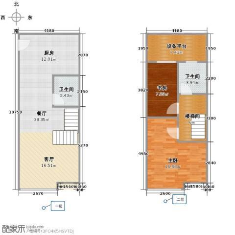 YOHO湾2室2厅1卫0厨111.00㎡户型图