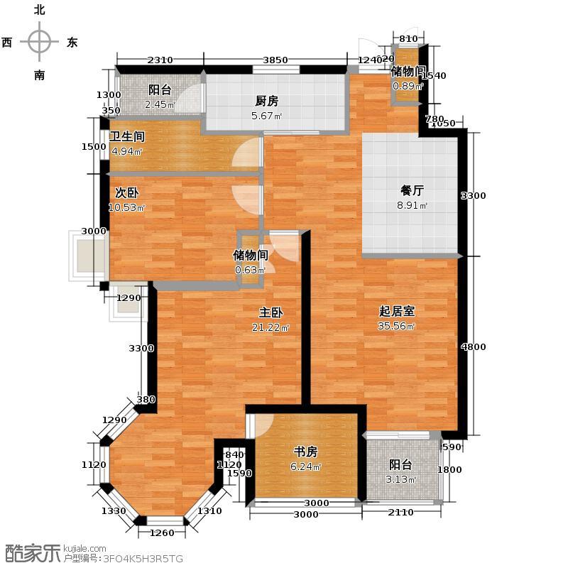晶城秀府112.00㎡B户型3室2厅1卫