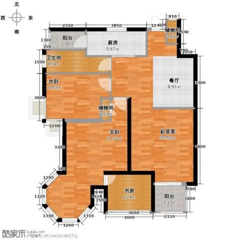 晶城秀府3室2厅1卫0厨112.00㎡户型图