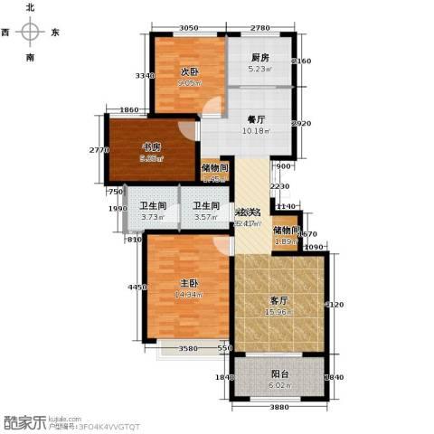 大家之江悦3室0厅2卫1厨106.00㎡户型图