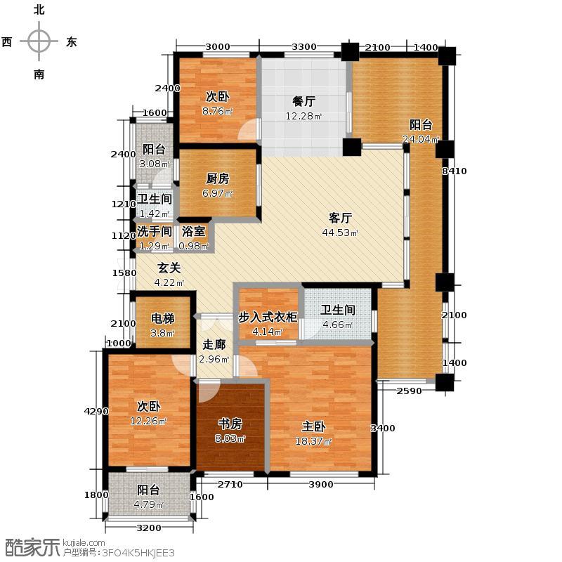 中城丽景香山152.22㎡户型10室