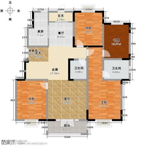路劲太阳城4室2厅2卫0厨166.00㎡户型图