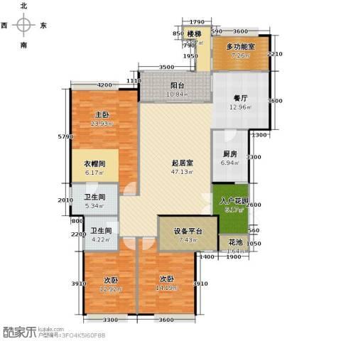 御城华府3室0厅2卫1厨152.00㎡户型图