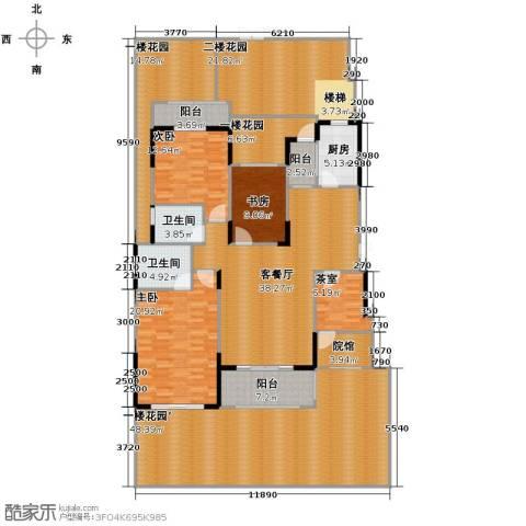 中国铁建山水时光4室2厅2卫0厨285.00㎡户型图