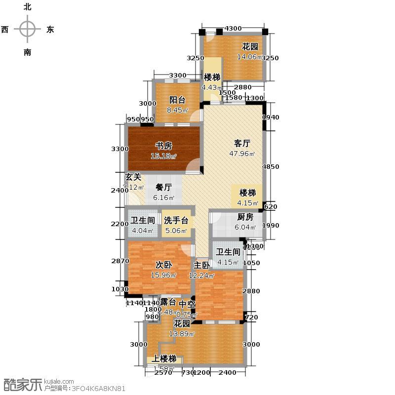 8号公馆181.00㎡D-1户型4室3厅3卫