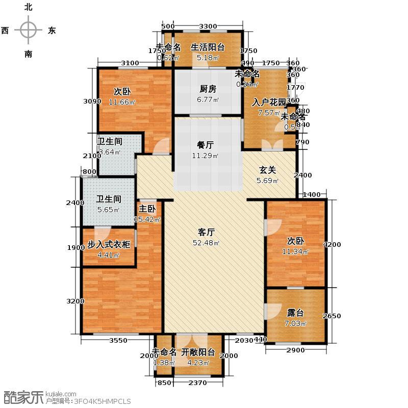 万通生态城新新家园158.00㎡洋房4F户型10室