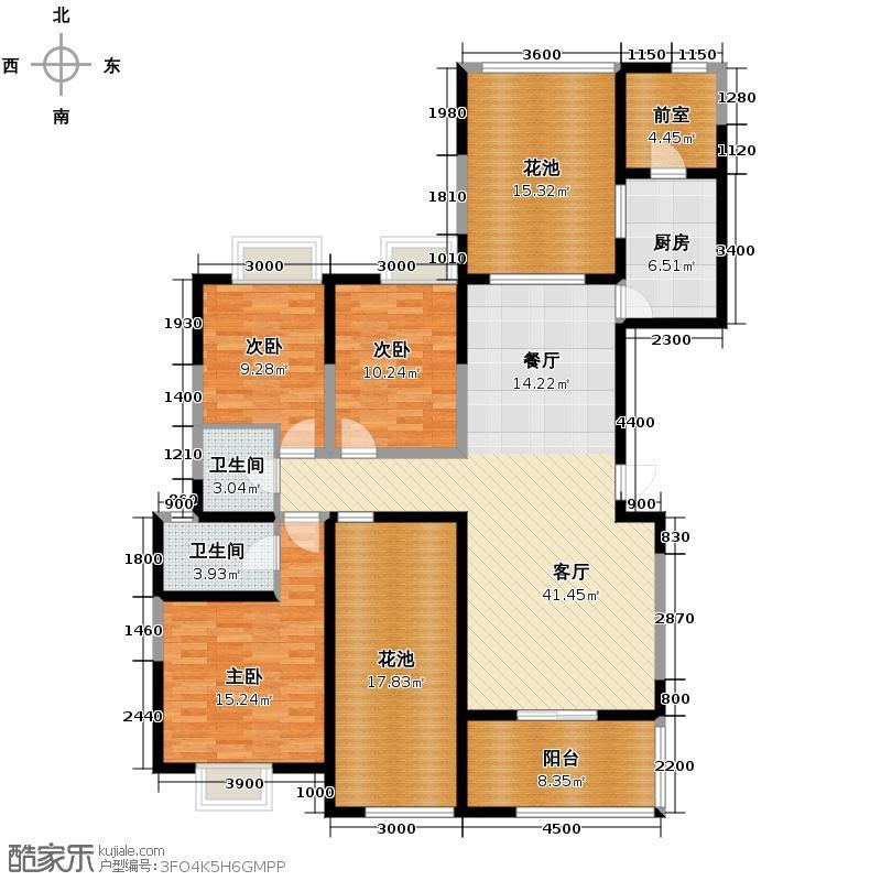 缤纷南郡154.94㎡中铁A2a(偶数层)户型10室