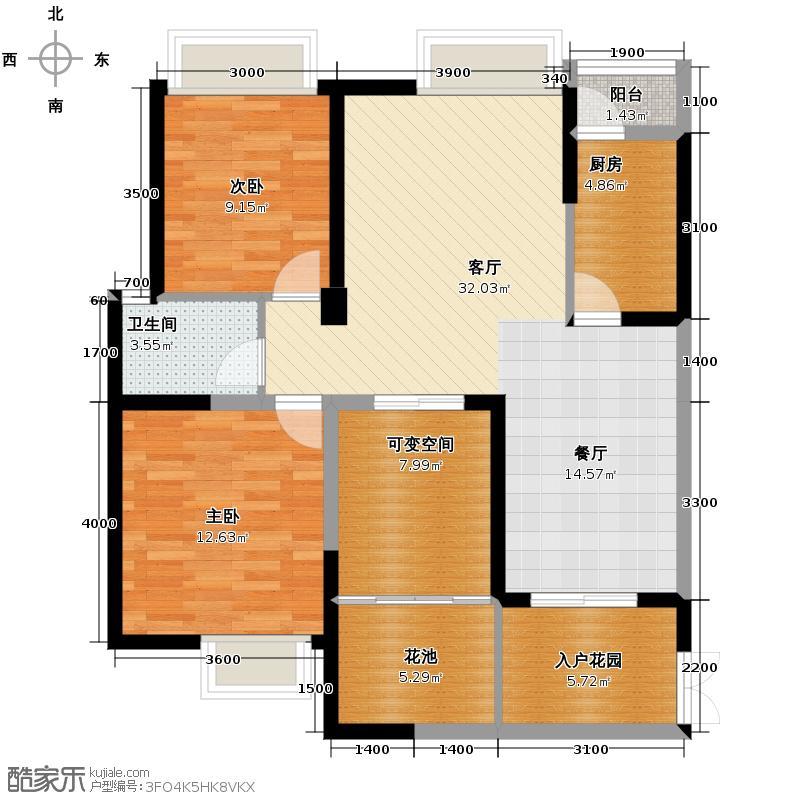 宏达世纪锦城99.00㎡2号楼D1-单卫-jpg户型2室2厅2卫