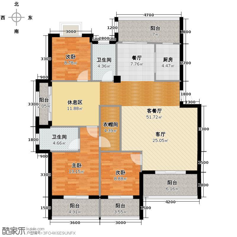 乐活金水苑135.00㎡D户型10室
