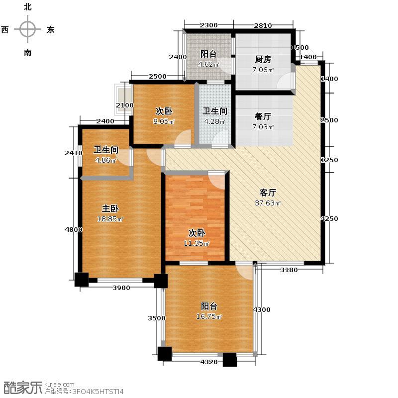 南湖国际社区130.00㎡G7奇数层户型10室