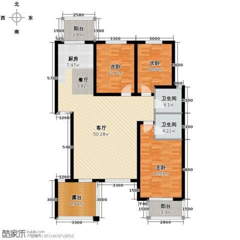 碧玉华府3室1厅2卫0厨160.00㎡户型图