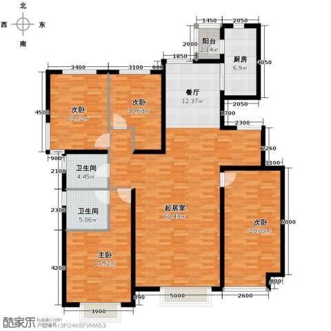 新华联雅园4室2厅2卫0厨178.00㎡户型图