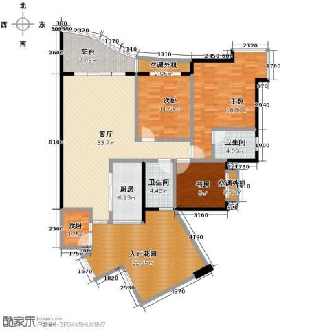 天骄年华4室1厅2卫1厨122.77㎡户型图