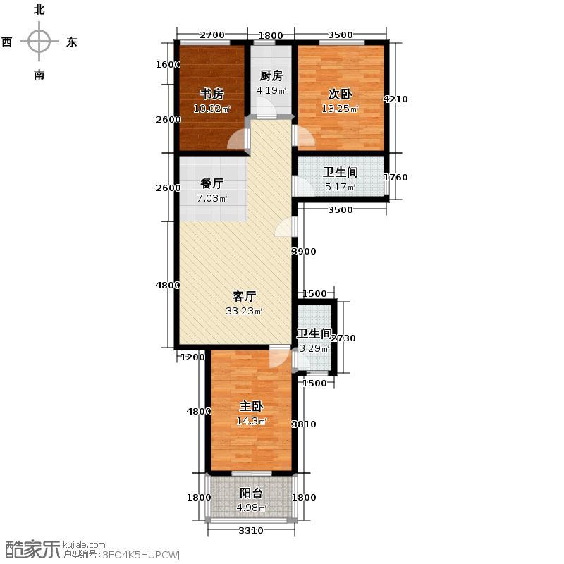 7080国际青年城99.17㎡户型3室1厅2卫1厨