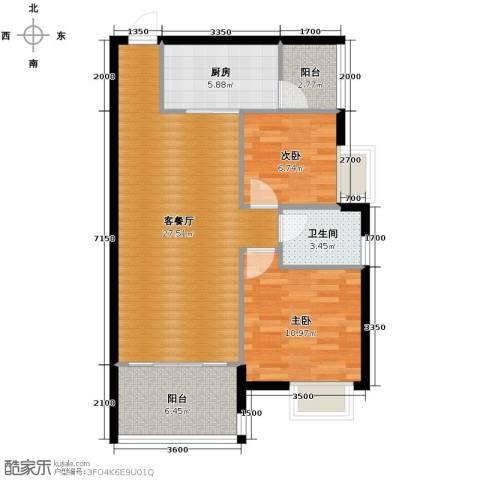 盈拓郦苑2室2厅1卫0厨89.00㎡户型图