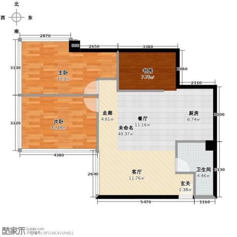 潮人汇大厦2室0厅1卫0厨124.00㎡户型图
