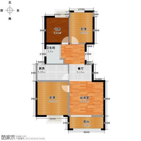 西港国际花园1室0厅1卫1厨87.00㎡户型图