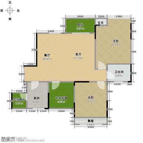 中凯翠海朗园2室1厅1卫1厨110.00㎡户型图