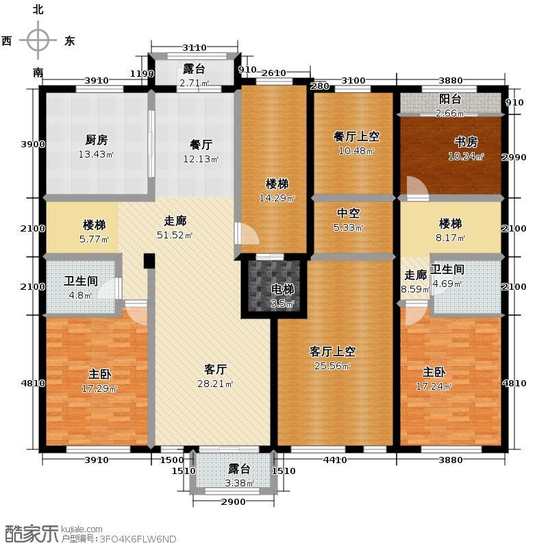 中海国际社区222.00㎡长滩组团F户型3室2卫1厨