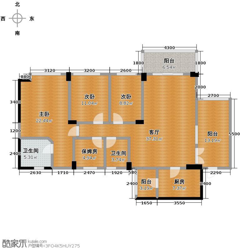 成都雅居乐花园142.00㎡B1-2户型10室