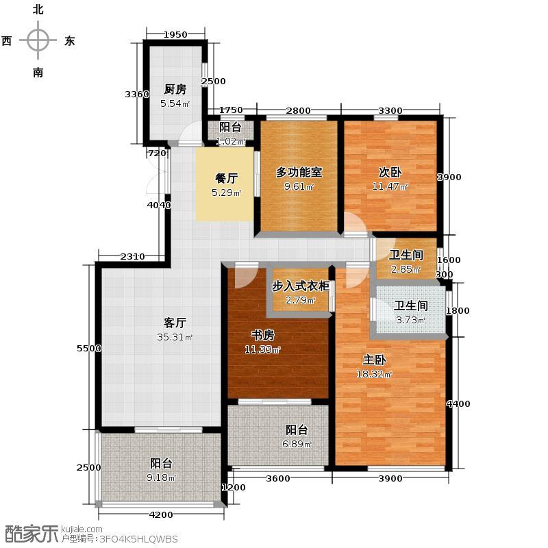 檀香园151.00㎡A户型3室1厅2卫1厨