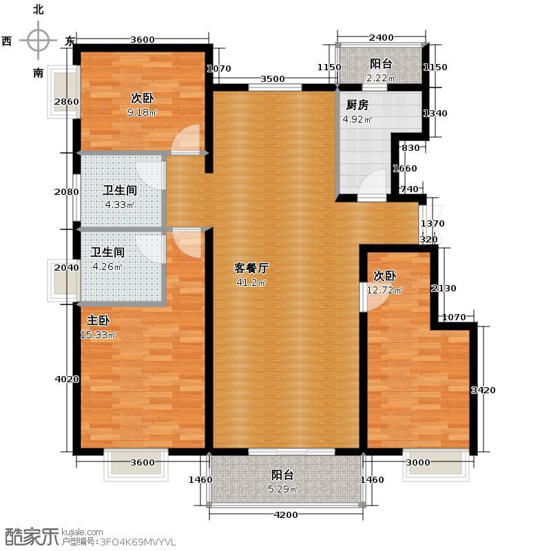 金润凤凰洲132.63㎡C48、9、17号楼户型3室2厅2卫
