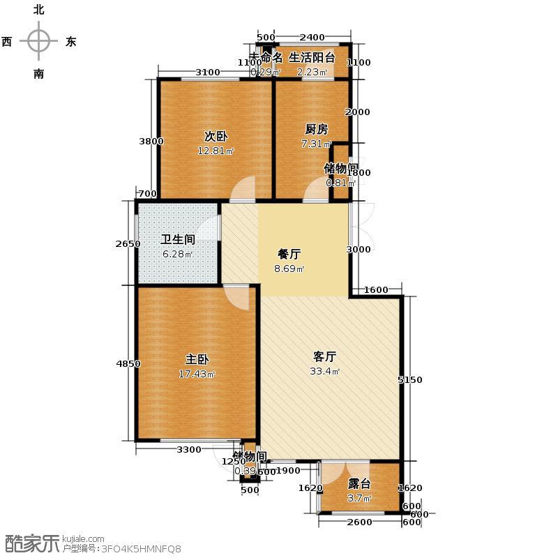 万通生态城新新家园108.00㎡洋房6F户型10室