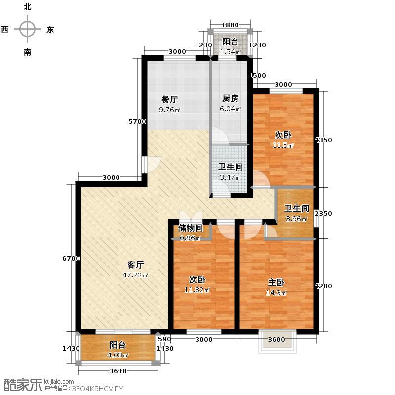 筑家119.71㎡B户型10室