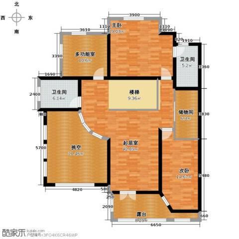 晟煜东湖湾2室0厅2卫0厨134.59㎡户型图