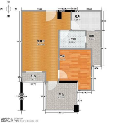 芭厘芭厘1室1厅1卫1厨49.12㎡户型图
