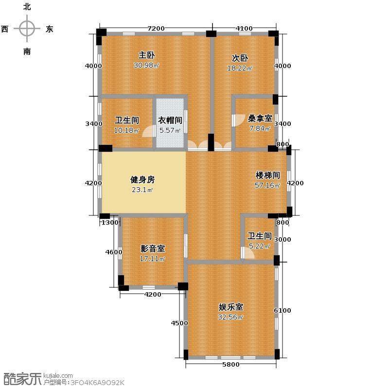东湖洲花园206.54㎡户型10室