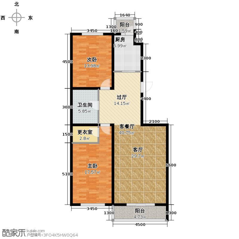 海天国际公寓136.00㎡户型10室