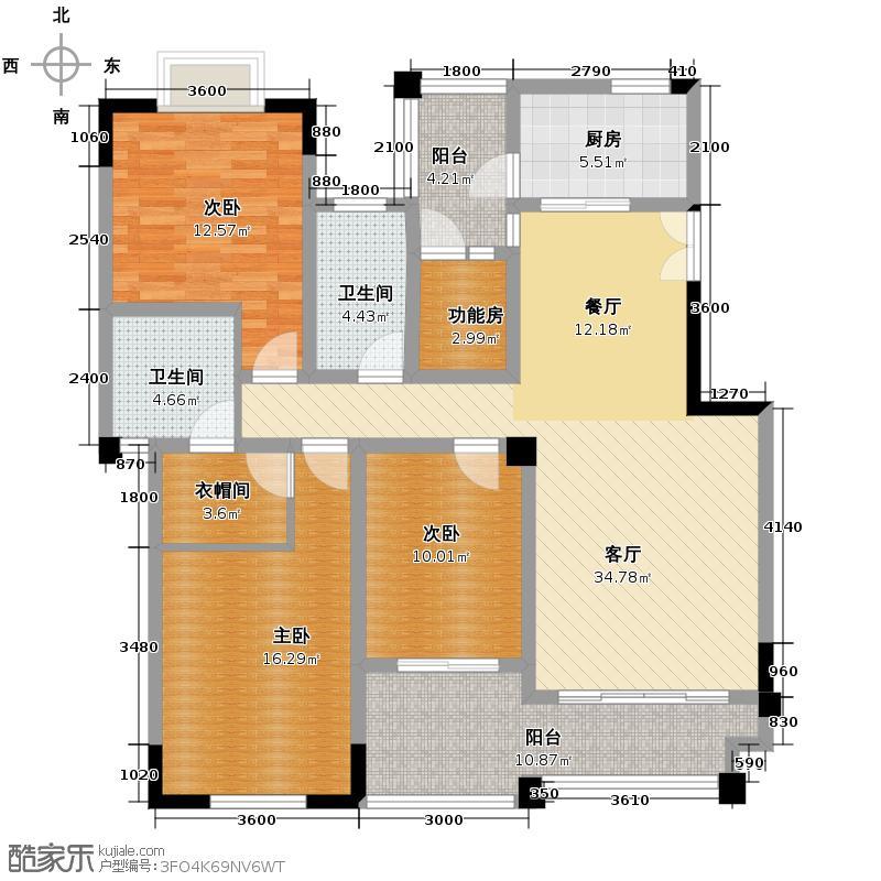 武夷滨江118.00㎡D户型3室2厅2卫