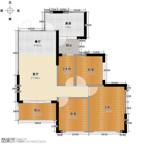 恒大御景湾3室2厅2卫0厨102.00㎡户型图