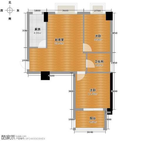 �口金利屋2室0厅1卫1厨84.00㎡户型图