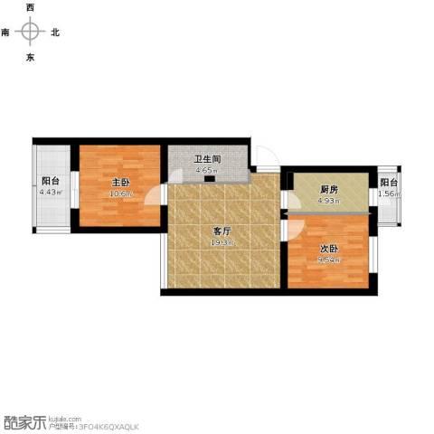 马南里小区2室1厅1卫1厨81.00㎡户型图
