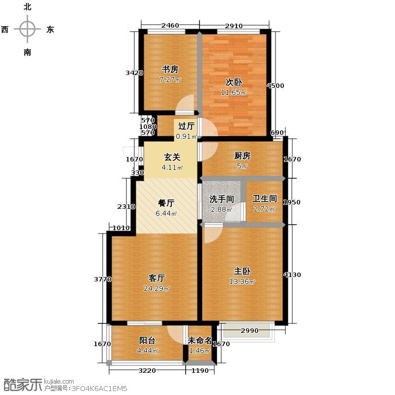 金隅・观澜时代95.00㎡A2户型3室2厅1卫